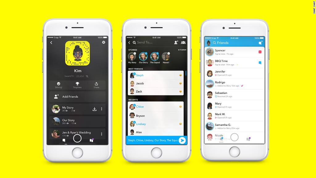 The different faces of Snapchat.