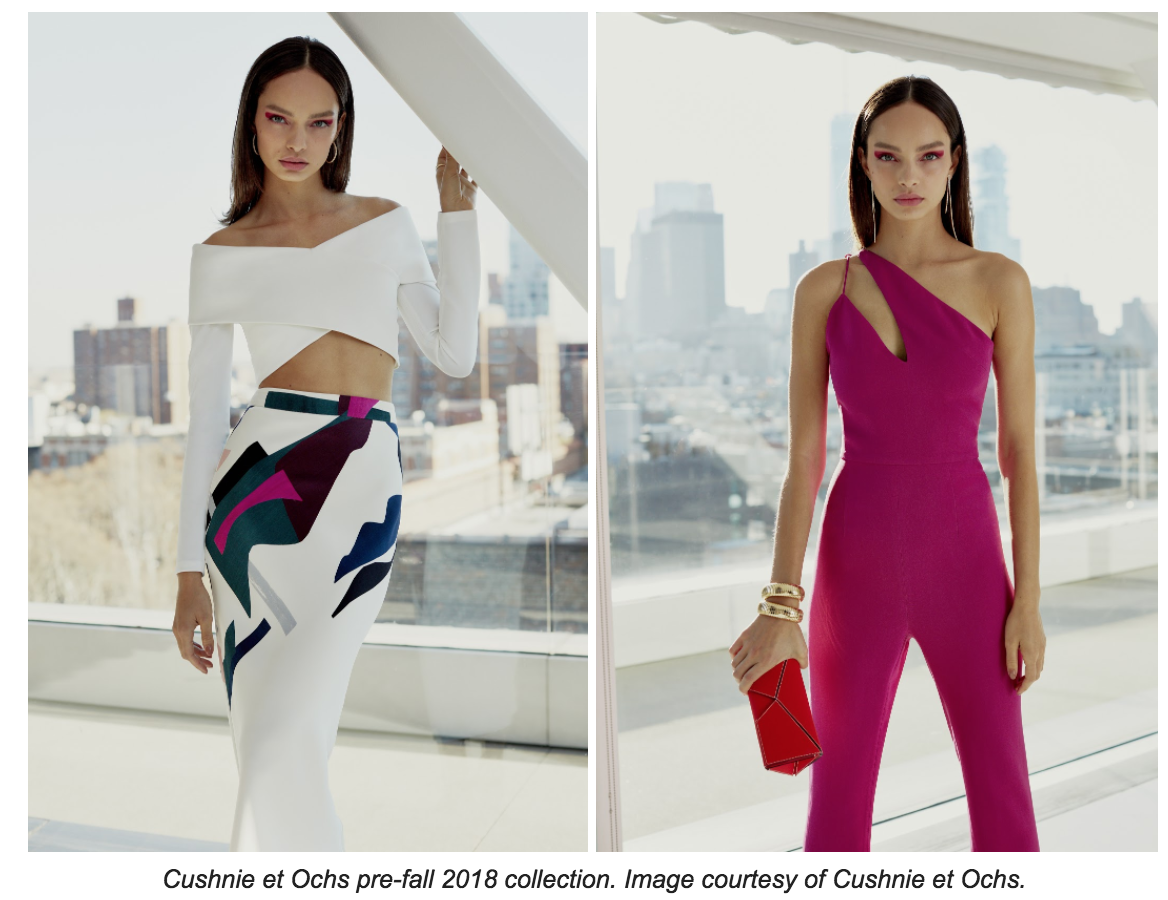 Cushnie et Ochs pre-fall 2018 collection
